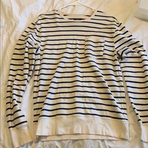 J Crew men's small striped pocket sweater